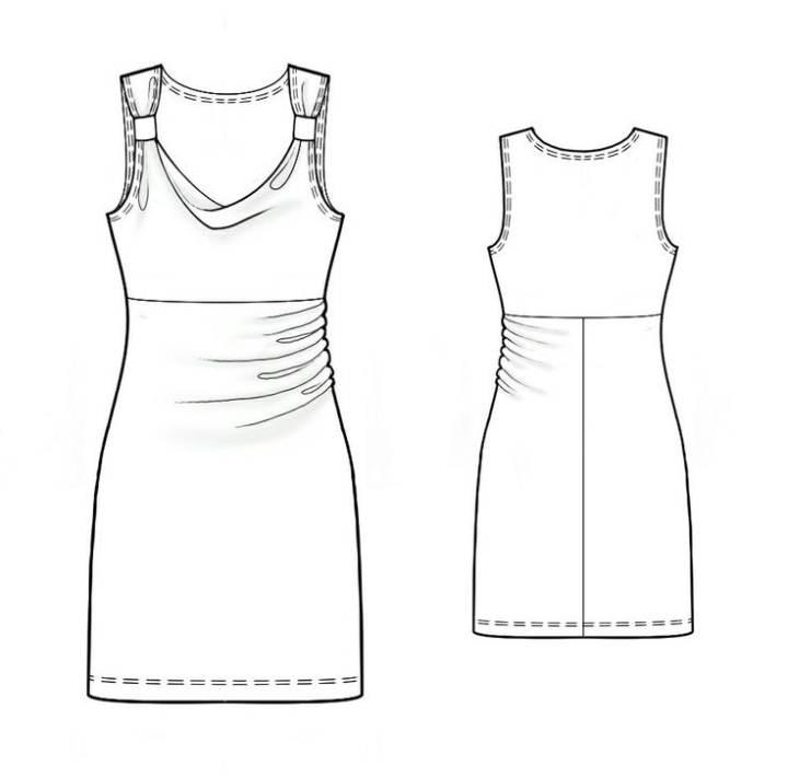 背心裙款式图