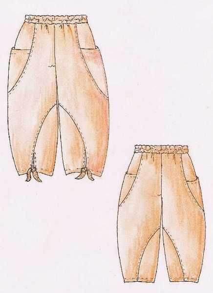 手绘休闲裤子作品-手绘休闲裤子款式图