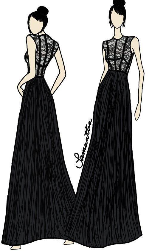 晚礼服作品-晚礼服款式图