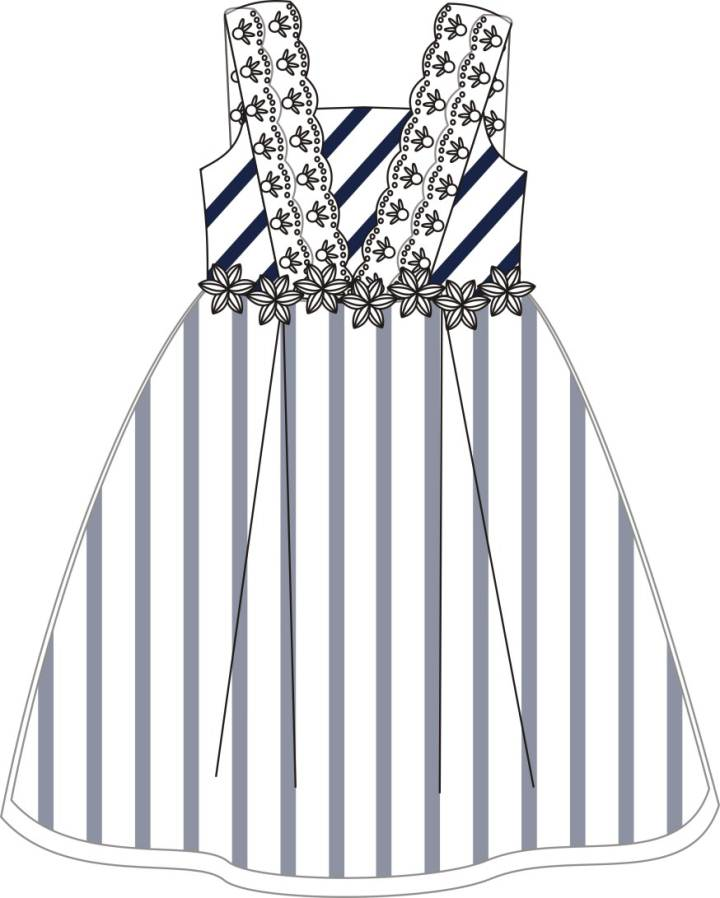 小公主裙子款式图-童装设计-服装设计