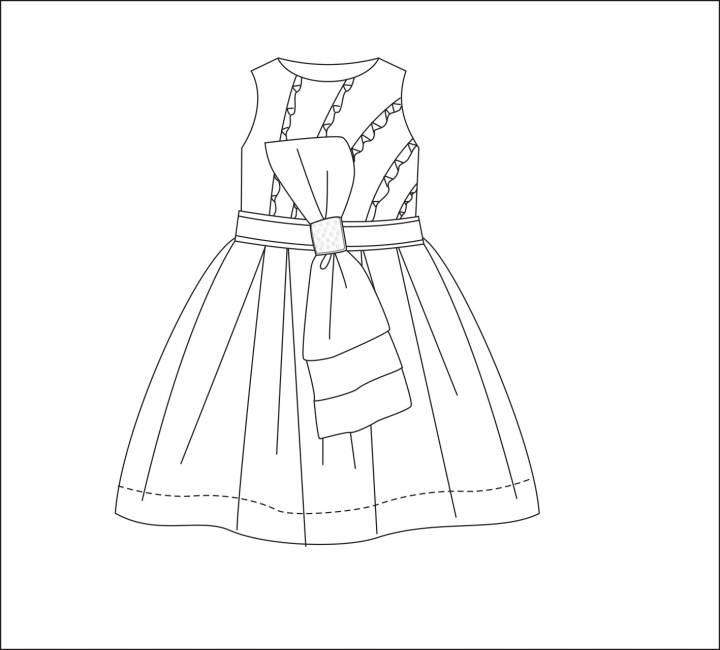 小公主连衣裙款式图-童装设计-服装设计