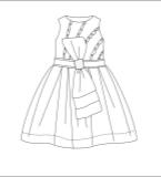 小公主连衣裙款式图