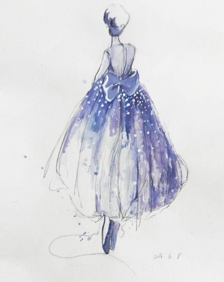 服装画-婚纱礼服设计-服装设计