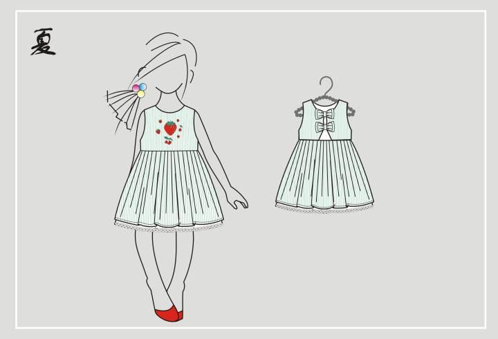 女童搭配款式-童装设计-服装设计