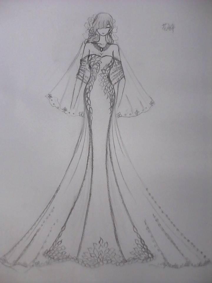 电脑上wap网:婚纱礼服铅笔稿-婚纱礼服设计-服装设计