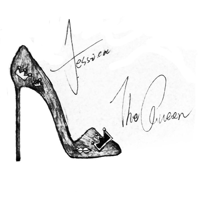 可爱小公主高跟鞋简笔画