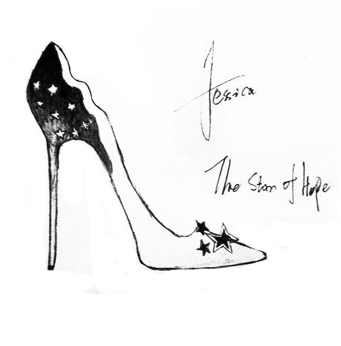 高跟鞋手稿-鞋帽配饰设计-服装设计图片