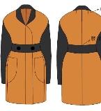 羊绒类大衣(无夹里)款式图