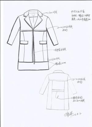 中性服饰手绘图