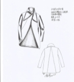 2016秋冬流行款式不对称中性上衣外套