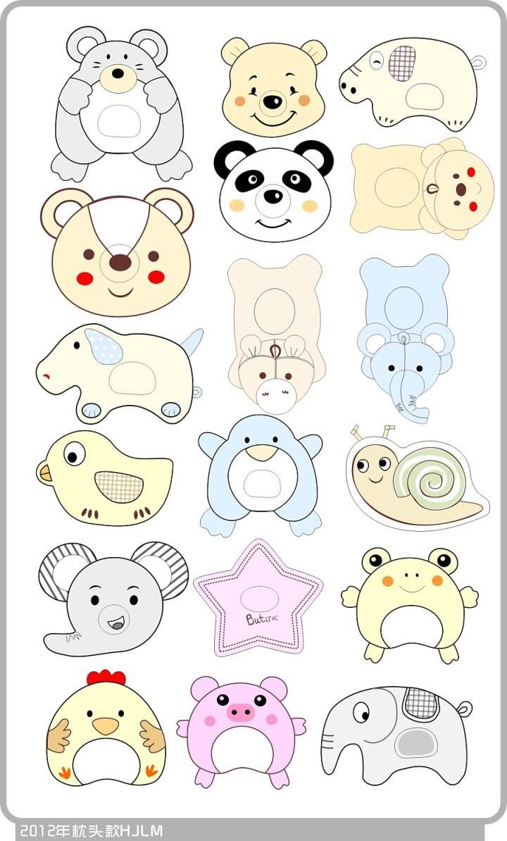 宝宝枕头-家纺系列设计-服装设计