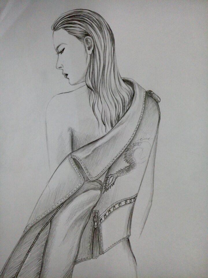 铅笔画-其它设计设计-服装设计