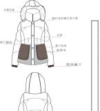 棉服款式图