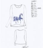 青花瓷印花T恤