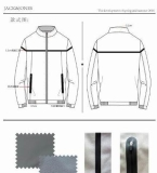 5男士压胶工艺短夹克款式图