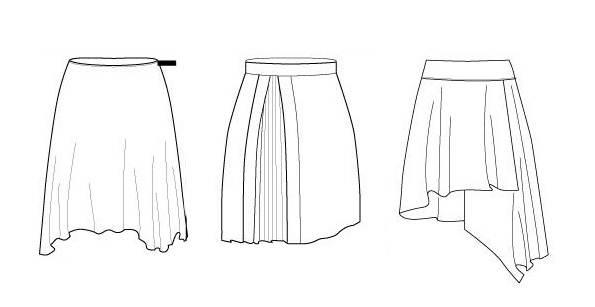 款式图裙子-女装设计-服装设计