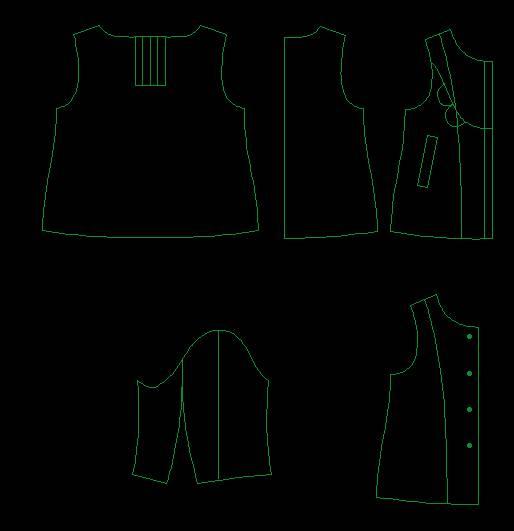 服装纸样-童装设计-服装设计