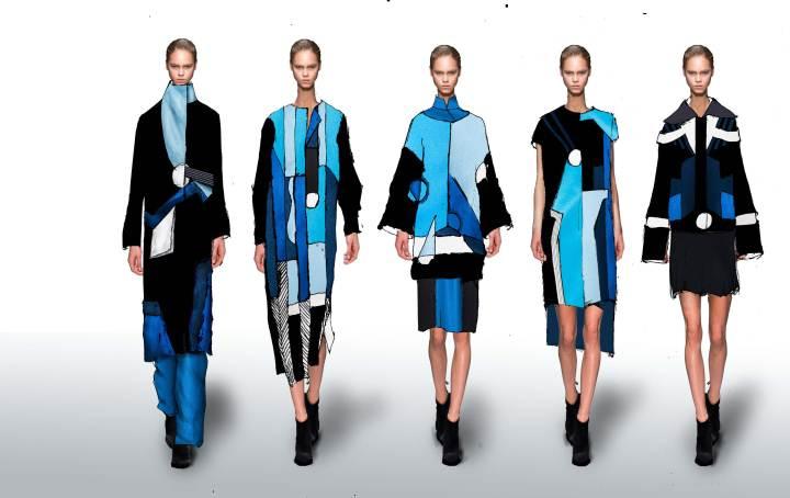 色彩视错-女装设计-服装设计