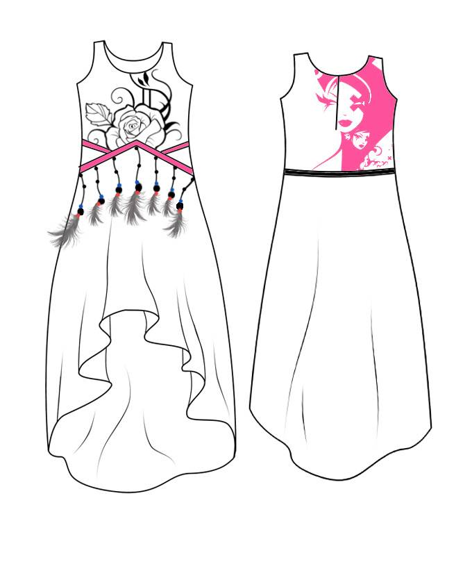 背心连衣裙款式图
