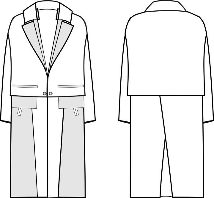 大衣款式图4-女装设计-服装设计