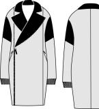 大衣设计图稿