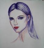 彩色圆珠笔画