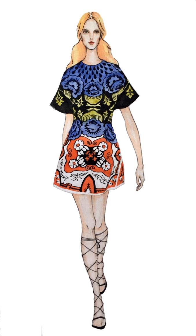 手绘效果图-女装设计-服装设计