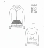 2016秋冬流行像素图案印花卫衣外套