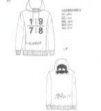 2016秋冬数字组合印花卫衣