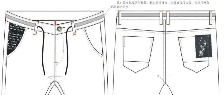 牛仔裤款式图