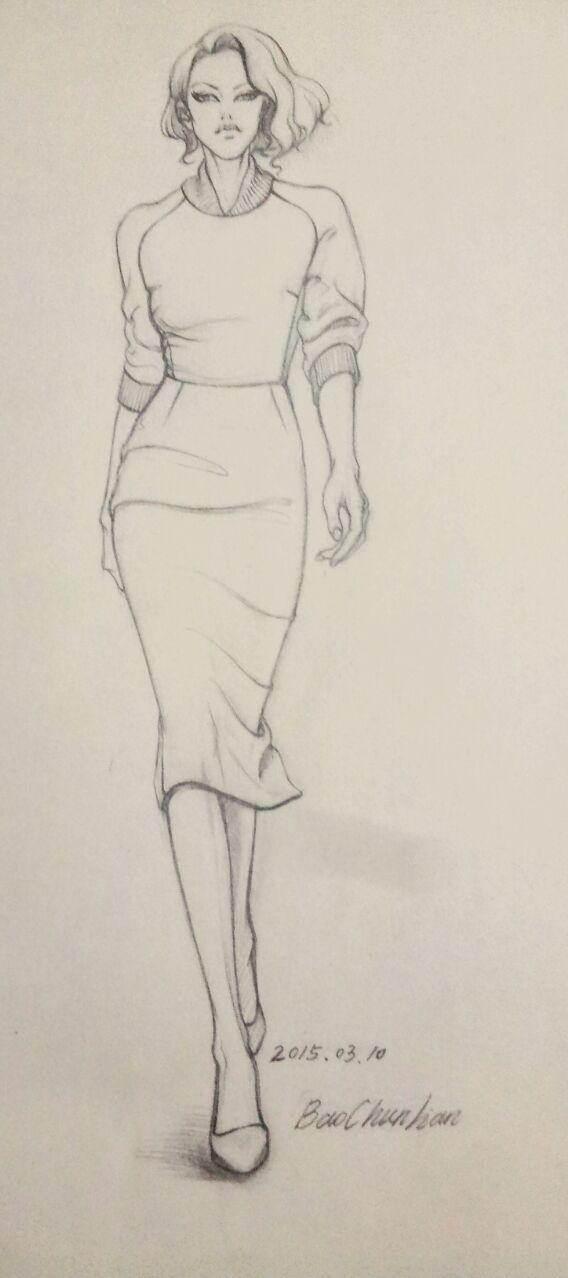 铅笔-女装设计-服装设计