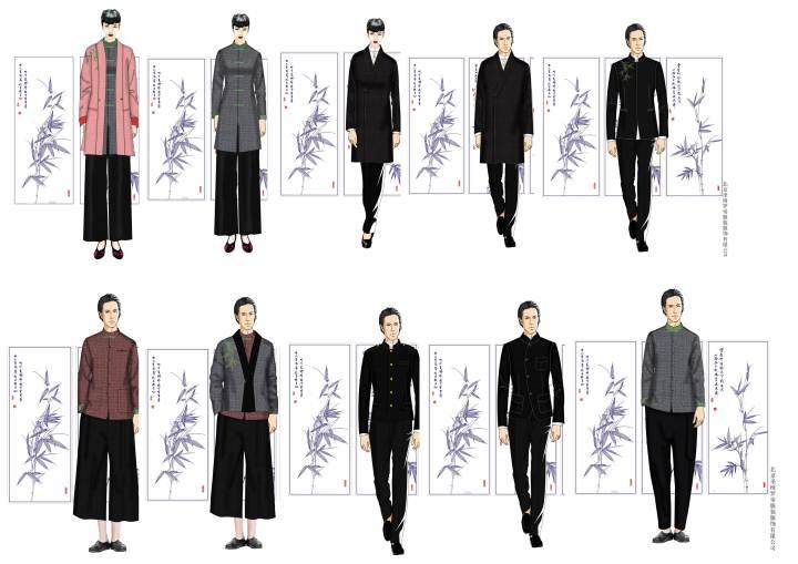 酒店职业装-职业服装设计-服装设计