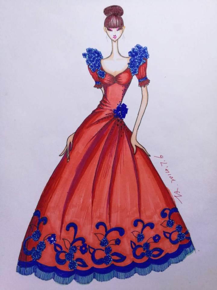 婚纱礼服作品-婚纱礼服款式图