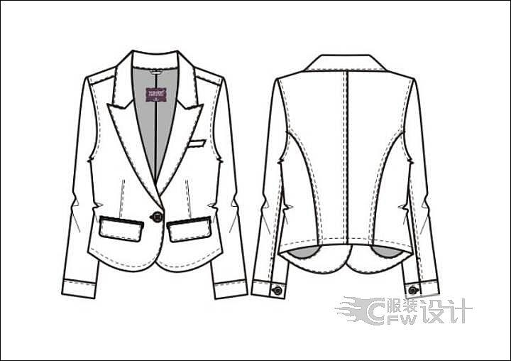 cdr小西装-女装设计-服装设计
