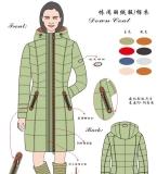 东欧秋冬女装羽绒服
