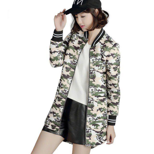 韩版复古系列迷彩太空棉之短风衣