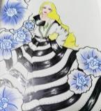 条纹时装裙