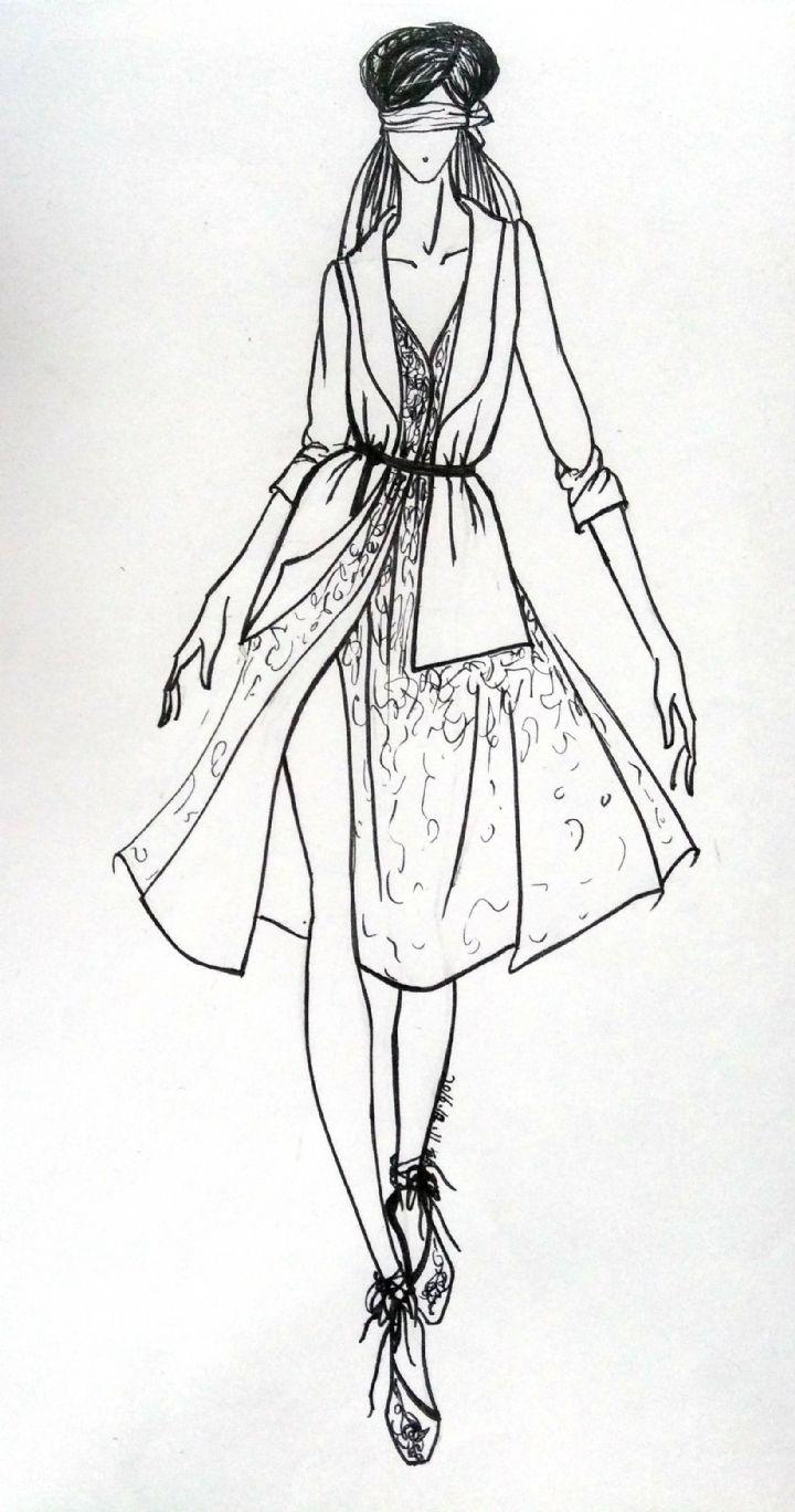 服装效果图-女装设计-服装设计