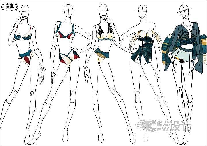泳装设计作品作品-泳装设计作品款式图