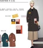6018秋冬女装贴布绣双面呢外套