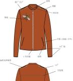 橙色斜纹布夹克