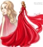 Delpozo FW2016 Red Poppy Dress