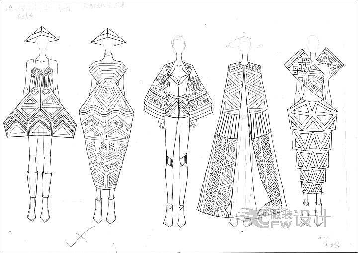 毕业设计-创意女装-女装设计-服装设计