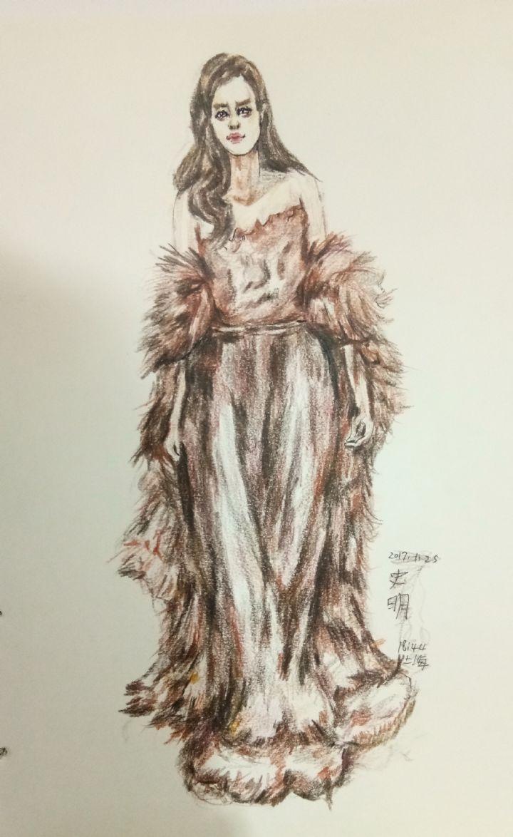 皮草女装时装设计