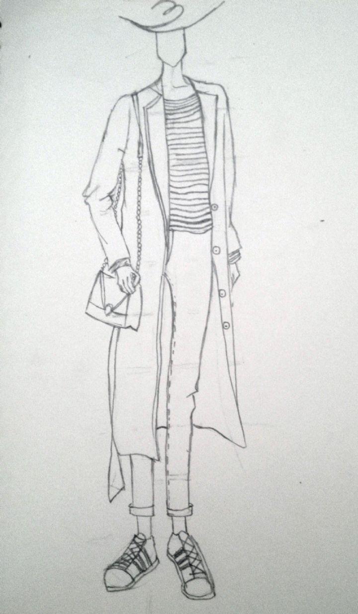 手绘休闲女装设计图片