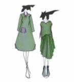 2系列灰绿时装设计