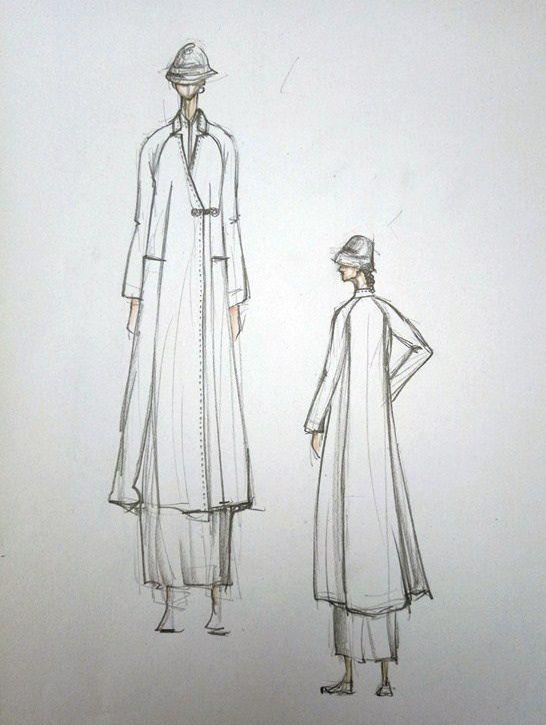 素源系列后背大折长款羊毛呢大衣
