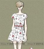 红唇连衣裙
