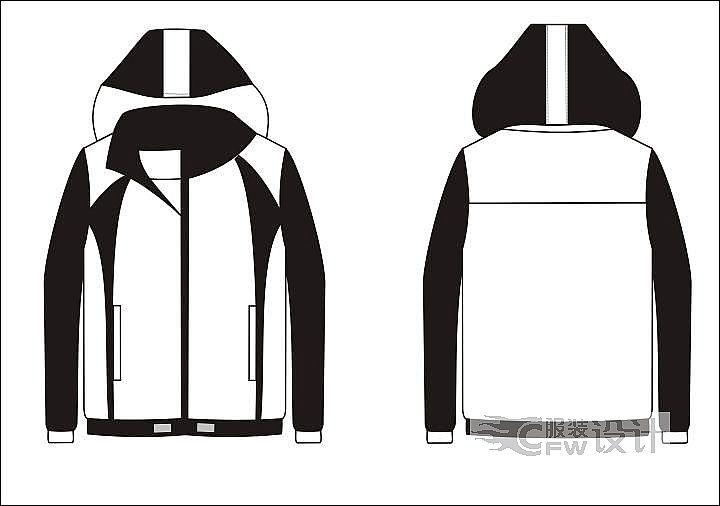 黑白夹克-男装设计-服装设计