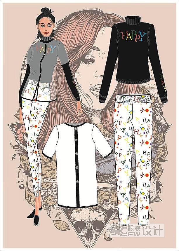 数码/手绘图-女装设计-服装设计